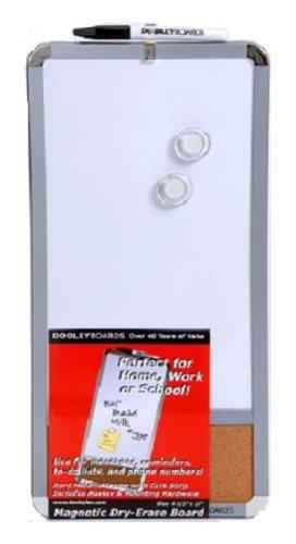 Dooley Boards Metallic Framed Magnetic Marker Board with Cork strip, 8 X 17-Inch, Metallic (817COMGTC) 817 COMGTC