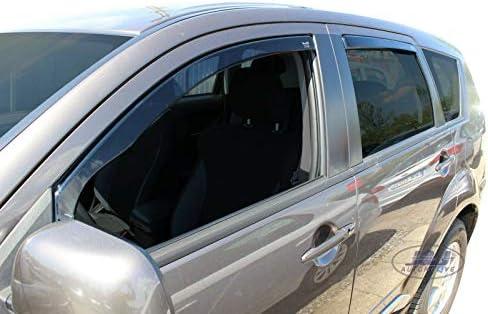 J J Automotive Windabweiser Regenabweiser Für Mitsubishi Outlander Ii 5 Türer 2006 2012 4tlg Heko Dunkel Auto