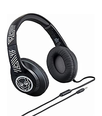 Black Panther Over The Ear Adjustable Headphones with Microphone from eKids