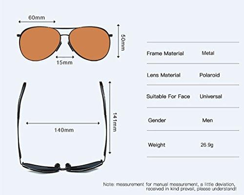 de Gafas Surface Gafas Sol polarizadas de Hombres MAX Sol Gafas Conductor de UV400 para anti Gafas Moda qrqwxfO7A