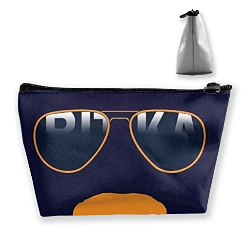 Fashion Makeup Cosmetic Case Clutch Bag, Da Bears Chicago Windy City Mustache Glasses Cosmetic Train Case Organizer Large Capacity Carry On Bag, Luggage Pouch, Makeup Pouch] for Women -