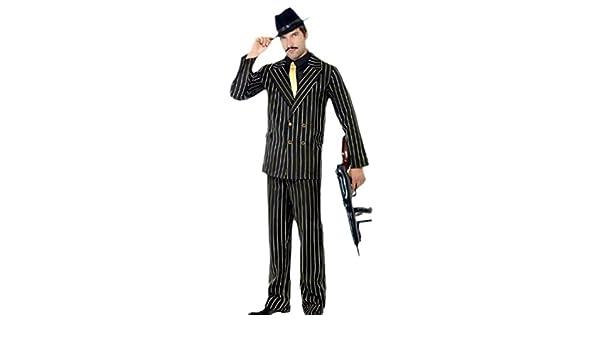 erdbeerclown – Hombre karnevalskomplett Disfraz Gangster rayas ...