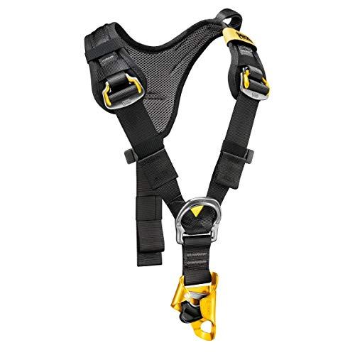 Petzl c81caa Top Croll Brust Geschirr mit integrierter ventralpelotte Seil Klemme, schwarz/gelb