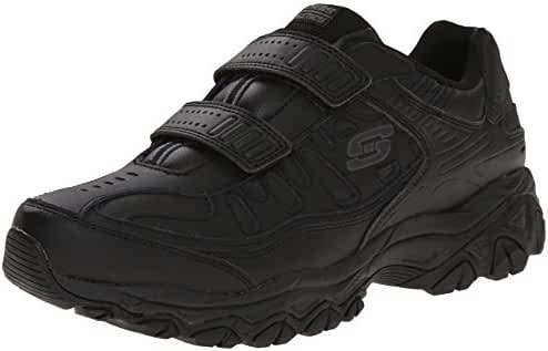 Skechers Sport Men's Afterburn Strike Memory Foam Hook-and-Loop Sneaker
