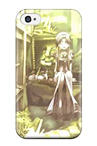 For Iphone 4/4s Tpu Phone Case Cover(aria)