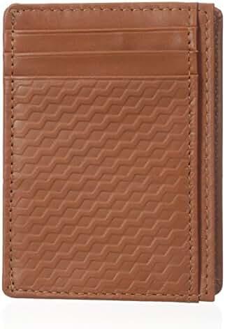 Buxton Men's Bellamy RFID Blocking Leather Slim Minimalist Front Pocket Get-Away Wallet