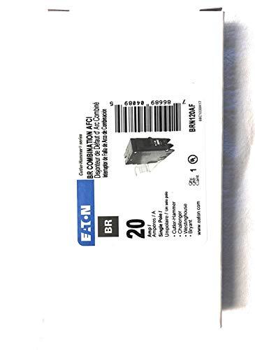 20a Arc Fault Breaker - Eaton BRN120AF Single-Pole Type BR1 Combo Arc-Fault Circuit Breaker, 20A - Quantity 1