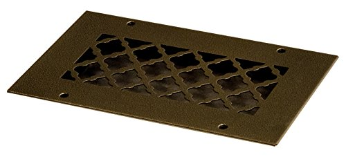 SteelCrest BTU8X4RORBH Bronze Series Designer Wall/Ceiling Vent Cover, with Mounting Screws, Oil Rubbed Bronze