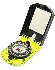JIUTAI Kompas Schaal Kaart Liniaal Spiegel Kompas Met Flip Multifunctioneel Voor Outdoor Wandelen Camping Survival Guiding Tool Zwart