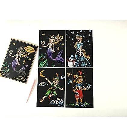 LIZHIOO Pintura de arañazos Colorear Magic Scratch Art ...