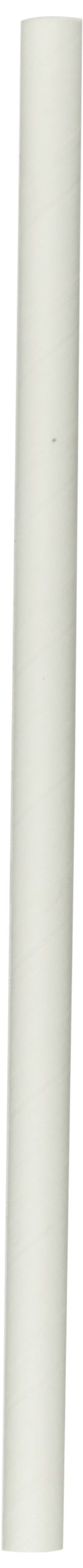 Aardvark 61500210 Unwrapped Paper Giant Drinking Straw, 9/32'' Diameter x 7-3/4'' Length, White (8 Boxes of 350)