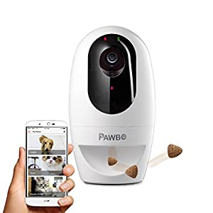 Pawbo Life Wi-Fi Pet Camera: 720p HD Video, 2-Way Audio, Video Recording, Treat Dispenser Laser Game