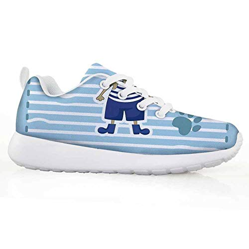 Price comparison product image Ahoy Its a Boy Children Running Shoes Cute Cat Pirate Funny Paws Clouds Maritime Striped Framework Provid