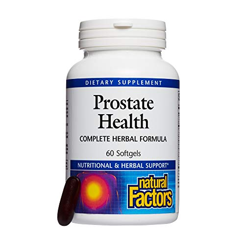 Natural Factors, Prostate Health Formula, Herbal Support for a Healthy Prostate with Saw Palmetto and Turmeric, 60 softgel (60 servings)