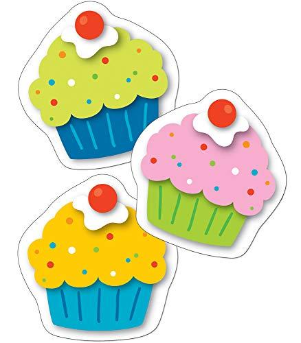 Carson Dellosa - Cupcakes Mini Colorful Cut-Outs, Classroom Décor, 36 - Cut Colorful Cd Outs
