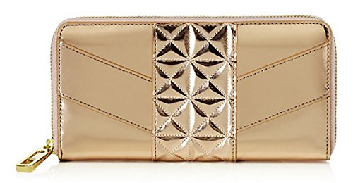 Juicy Couture Vista Del Mar Mirrored Rose Gold Zip Around Wallet