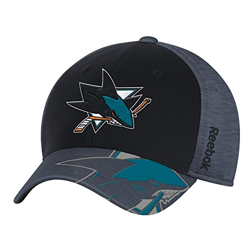 Reebok NHL San Jose Sharks Men's Playoff Team Cap, Black, Small/Medium