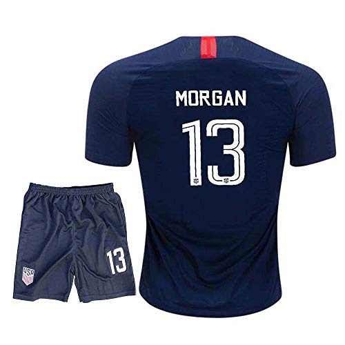 efc7c06a190 Fcdraon Youth Morgan USA National Alex 13 Girls/Kids 2018/19 Away Jerseys &