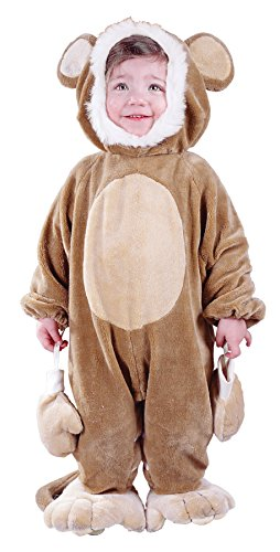 Cuddly Clown Costumes (UHC Baby's Cuddly Monkey Outfit Infant Toddler Fancy Dress Halloween Costume, 6-12M)