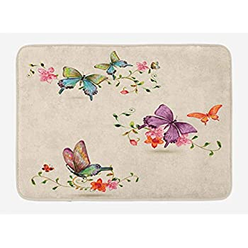 Amazon Com Lenox Butterfly Meadow 20 By 30 Bath Rug