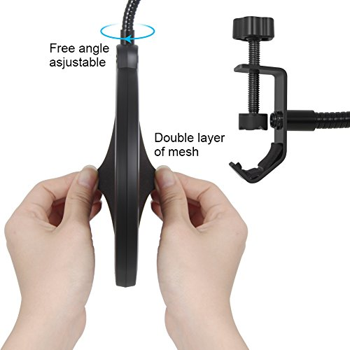 InnoGear Microphone Pop filter Mic Pop Shield with Clip Stabilizing Arm for Recording Vocals Home Studio Broadcasting