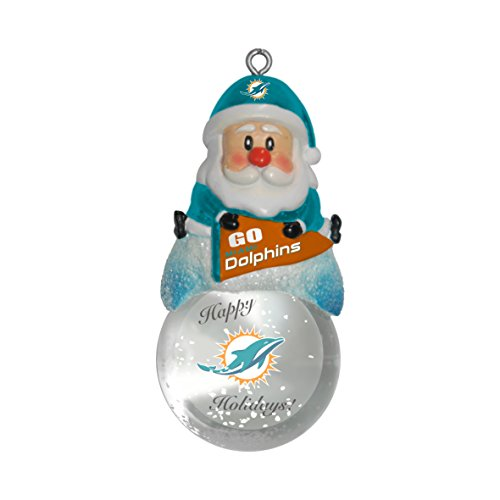 NFL Miami Dolphins Snow Globe Ornament