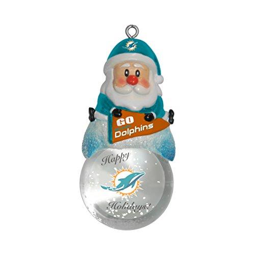 NFL Miami Dolphins Snow Globe Ornament