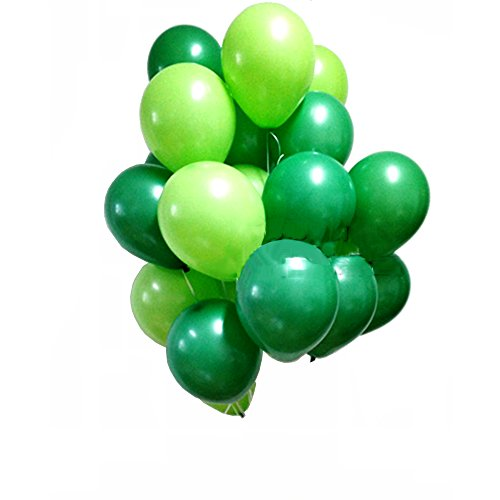 AnnoDeel 50 Pcs 12inch Green Balloons, Light Green Balloons and Dark Green Balloons for Tree Birthday Wedding Party Spring Decorations