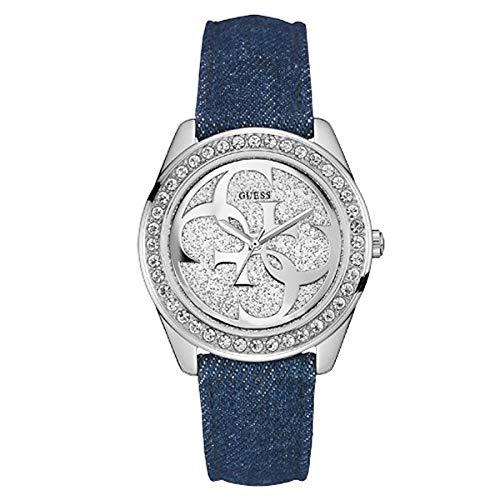 6181da3d3f2a Guess Reloj analogico para Mujer de Cuarzo con Correa en Tela W0627L1   Amazon.es  Relojes
