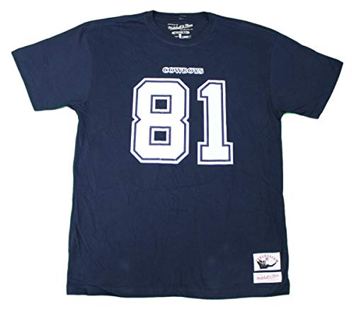 Mitchell & Ness Terrell Owens Dallas Cowboys NFL Men's Navy Blue Name & Number Jersey T-Shirt