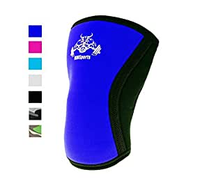 Squatting Knee Sleeve 5mm Squatting Pad Knees Support Best Undersleeve For Knee Workout Wrestling Knee Sleeve Premium Knee Sleeve For Men And Women Blue L [ 1 Sleeve ]