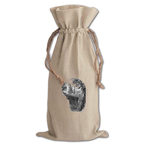 Raglan Wrap - Raglan Castles Canvas Wine Cotton Drawstring Bag