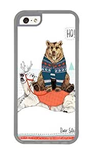 linJUN FENGApple iphone 4/4s Case,WENJORS Awesome Bear Sleigh Soft Case Protective Shell Cell Phone Cover For Apple iphone 4/4s - TPU Transparent