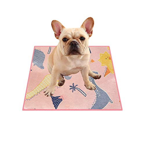 khdug❤ Pet Waterproof Mat, Double-Sided Breathable Cushion Small and Medium Dog Cats Pet Suede Insulation Pad, for Hot Summer, Winter Four Seasons