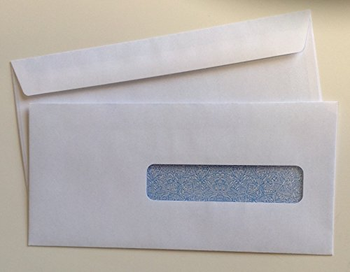CMS 1500 - HCFA Window Envelopes for Claim Forms (No. 10-1/2) 4-1/2'' x 9-1/2'', White with Inside Security Tint - 50 ENVELOPES by Wesco