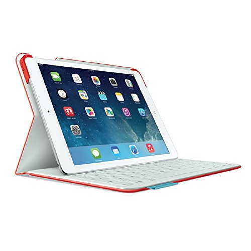 Logitech Fabric Skin Keyboard Folio for iPad Air, Mars Red Orange (Certified Refurbished)