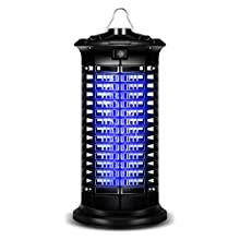 Newone Electric Bug Zapper, Mosquito Killer with Light Bulb Lamp Powerful Flying Insect Killer Mosquito Attractant Trap with Hook for Indoor and Outdoor (Black)