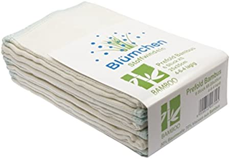 pour b/éb/é Bl/ümchen Lot de 6 couches plates langes pr/épli/és en serg/é de bambou