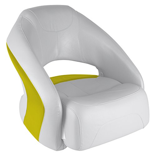 Wise 8WD1217-1741 Sport Bucket Seat with Flip-Up Bolster, White/Yellow