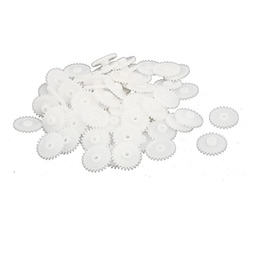 uxcell 100PCS 26 Teeth 2mm Hole Dia Plastic Gear Wheel for Toy Car Motor Shaft by uxcell