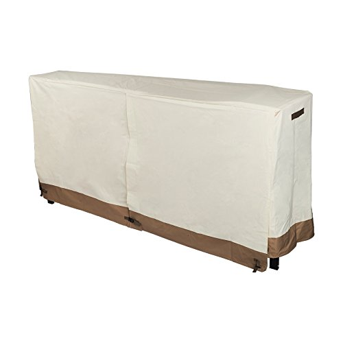 8' Rack (Pinty Firewood Log Rack Cover 8 Feet 600D Oxford Cloth for Outdoor Use Waterproof (White 600D Oxford))