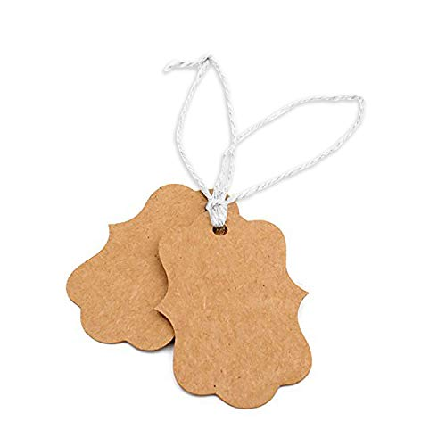 Kraft Paper Price Hang Tags for Artisan Jewelry, Sales, Merchandise 100pcs - 3 Pack