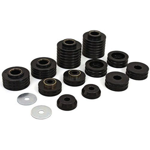 ngler Polyurethane Body Mount Kit, fits 1997 to 2006 4WD, KJ04008BK, Made in America ()