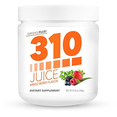 Green Superfood Organic Powder | 310 Juice Mixed Berry | Daily Organic Superfood Powder and Cleanse with Probiotics | Boosts Metabolism | Improves Memory | Natural Juice Cleanse (Best Green Juice Mix)