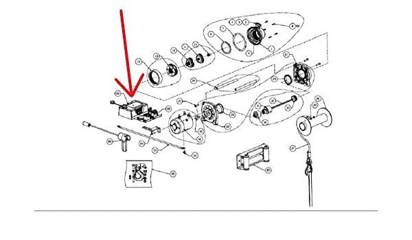 warn atv winch parts diagram amazon com warn 92073 winch control pack for vr10000  vr1000s  amazon com warn 92073 winch control
