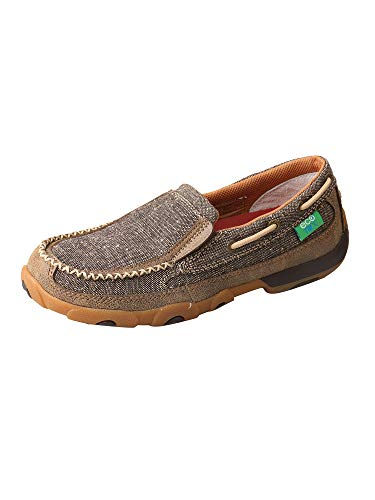 Twisted X Women's ECO D Toe Driving Moccasin Printed Casual Slip-On Shoes - Dust - 8M