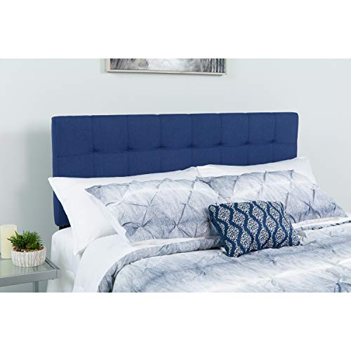 Flash Furniture Bedford Tufted Upholstered Full Size Headboard in Navy Fabric (Navy Headboard Fabric)