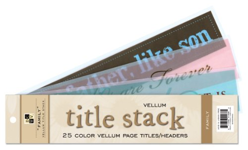 Die Cuts Quote Stack - Die Cuts With A View Family Vellum Title Stack