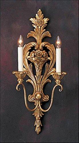 Decorative Crafts 1835 Carved Wood Sconce ()