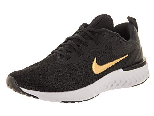 Nike Women's Odyssey React Running Shoe Black/Metallic Gold/Vast Grey Size 8 M US